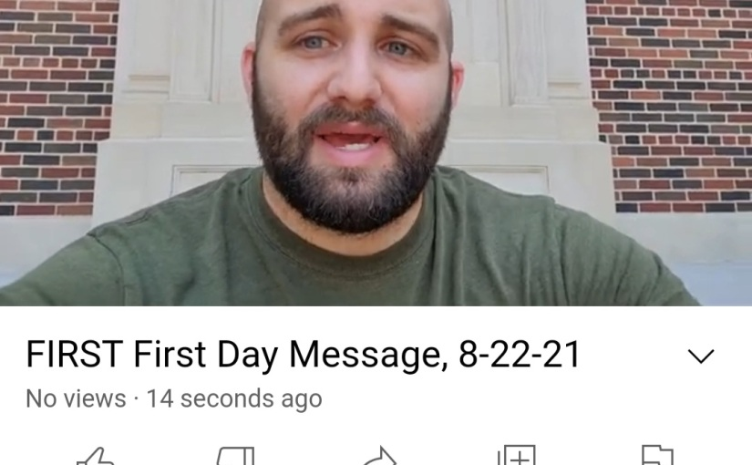 First Day Message: PreachingAgain